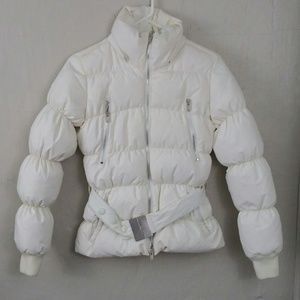 Calvin Klein Jeans Down Feathers White Puffer Coat